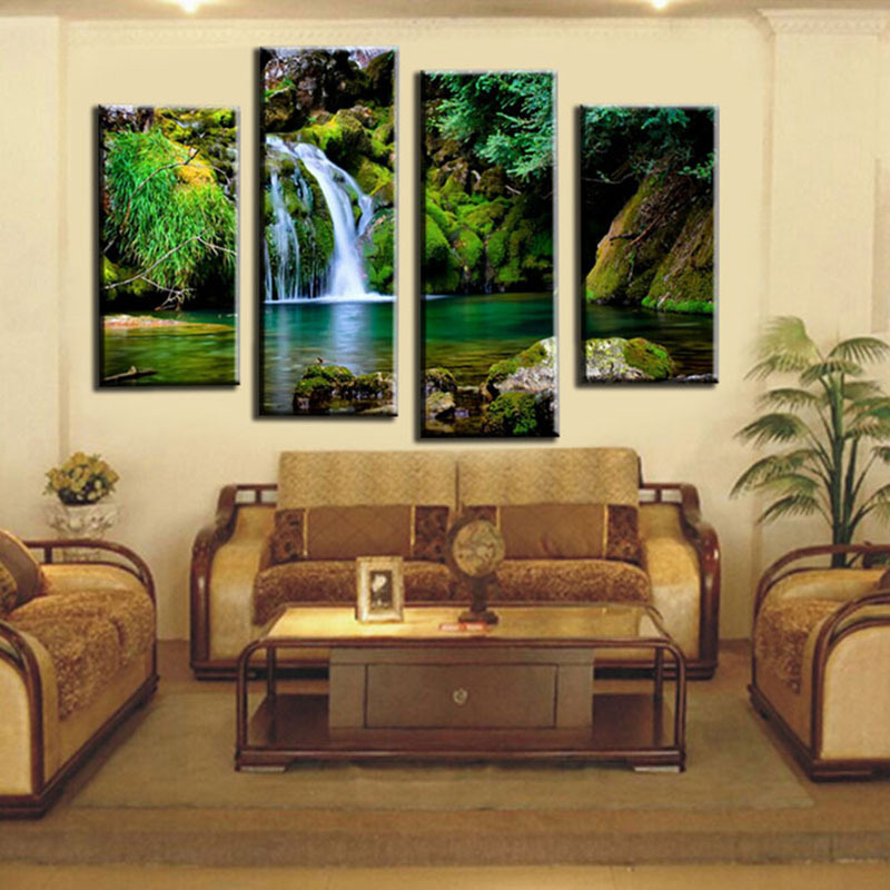 Hot Style Can Be Customized Box 4 Plate Oil Paintings On Canvas Art Gallery In Household