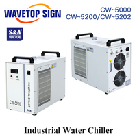 S&A CW5000 CW5200 CW5202 Industry Air Water Chiller For CO2 Laser Machine Cooling CNC Spindle 80 100W 130W 150W Co2 Laser Tube