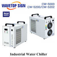 S & A CW5000 CW5200 CW5202 industrie Air refroidisseur d'eau pour CO2 Laser Machine refroidissement CNC broche 80 100 W 130 W 150 W Co2 Laser Tube
