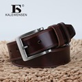 Fashion high quality men luxury belt genuine leather for male jeans cowboy metal buckle belt black brown coffee PD4035