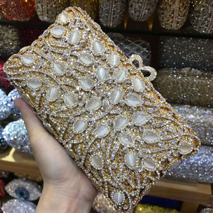 gold jade Crystal Clutch Evening Purse Bag For Women Wedding Party Cocktail Handbag Flower Metal Minaudiere shoulder Bag silver bling women silver crystal diamond evening clutch purse handbag wedding party cocktail purse minaudiere bag gold shoulder bags