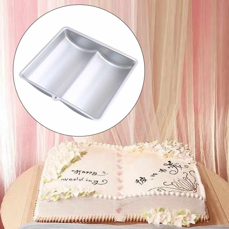 3D Book Form Aluminum Cake Baking Pan Mold Pastry Supplies For Cakes Fondant Jelly Moulds Bakeware Birthday Cake Decorating Tool