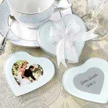 Коврик для чашки подарок на свадьбу и раздаточный материал для гостей-европейский стиль в форме сердца стеклянные подставка для фото вечерние блага