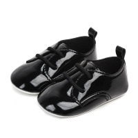 Fashion PU Leather British Style Baby Shoes Kids Shoes with Air Hole Anti slip Unisex Footwear First Walkers for 0 12M