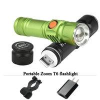 Portable Light Mini CREE XM L T6 Flashlight USB LED Torch Rechargeable Waterproof Flash Light 3000