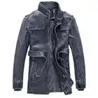 2018 nouvelle veste en cuir veste d'hiver hommes mode en cuir veste solide col montant doublure en laine de haute qualité faux cuir manteau
