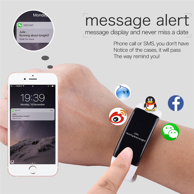 IP68 Waterproof Smart Wristband V66 Smart bracelet Heart Rate Monitor Call SMS Remind Bluetooth Fitness Band for IOS Android