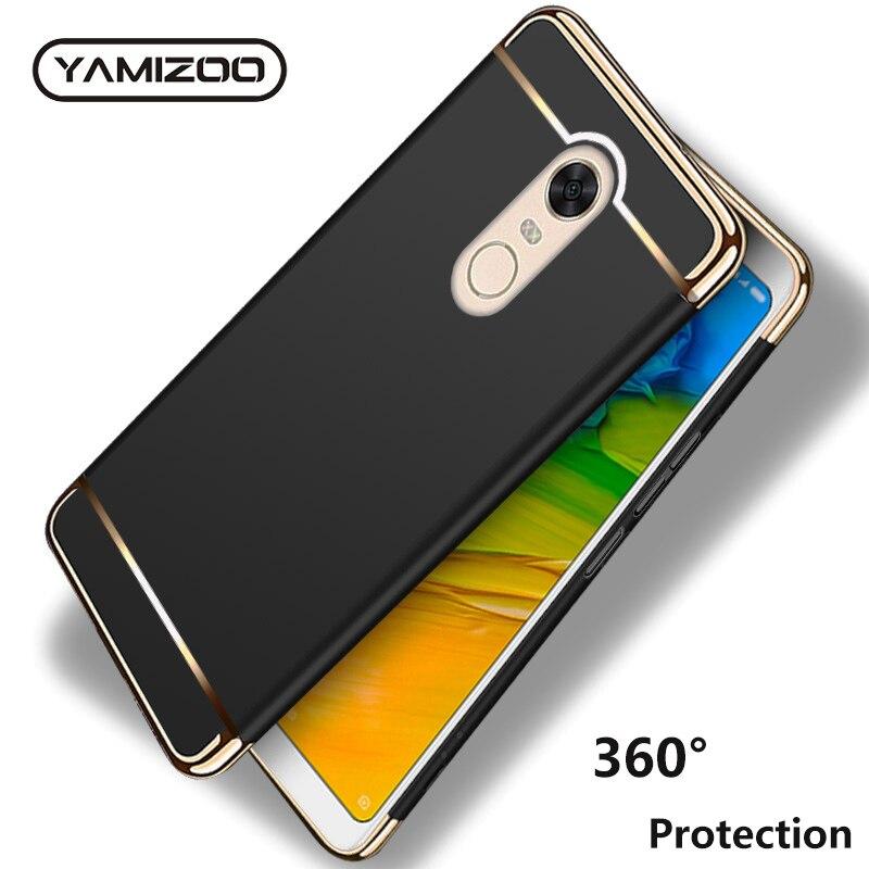 official photos 6c34b 41bae Redmi Note 5 Cover Case For Xiaomi Redmi 5 Plus Case S2 6A 6 Pro Coque  YAMIZOO 360 Hard Back Cover Case For Xiaomi Redmi Note 5