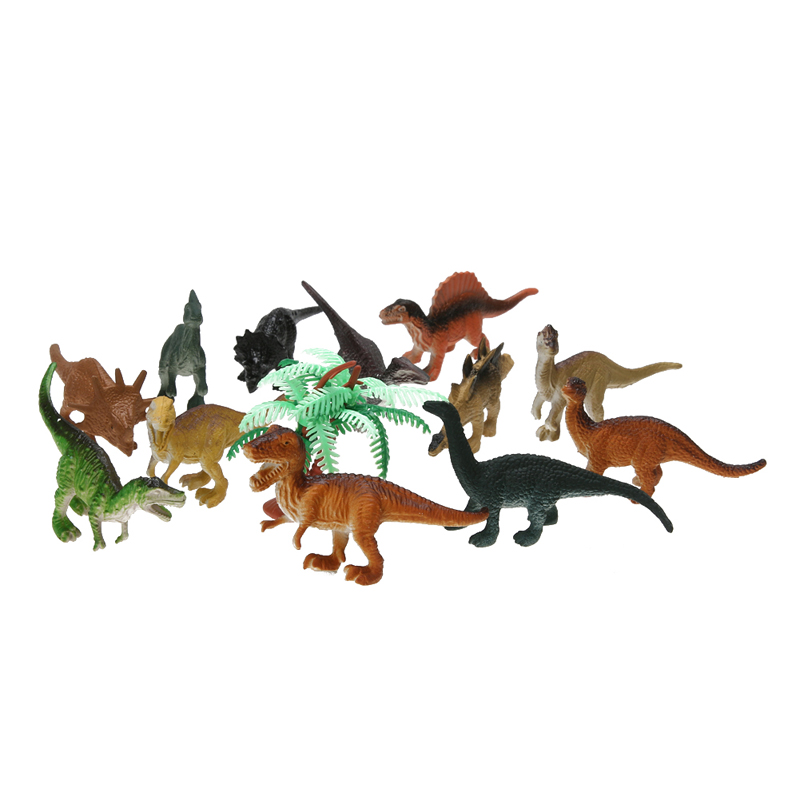 12pcs/lot Dinosaur Toy Set Plastic Dinosaur  World Play Toys Dinosaur Model Action & Figures Best Gift for Boys bwl 01 tyrannosaurus dinosaur skeleton model excavation archaeology toy kit white