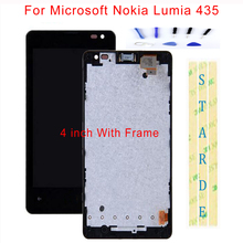STARDE Replacement LCD For Microsoft Nokia Lumia 435 LCD Display Touch Screen Digitizer Sense Assembly Frame 4