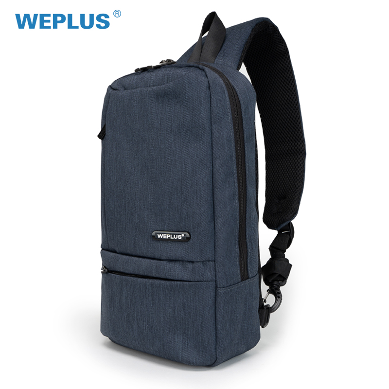 WEPLUS Crossbody Bags for Men Multifunction Anti Thief Travel Small Messenger Bag Chest Bag Shoulder Bag for Teenager Free Ship