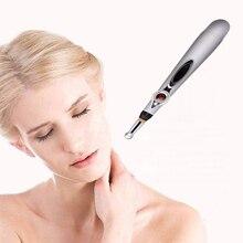 Meridan энергии ручка Электронная Accupuncture боли массажный инструмент энергии Шариковая Ручка Массажер для ухода дома Применение 3 в 1 массаж голова