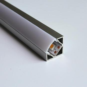 TS18 corner aluminium led heatsink profile for led strip lights led strip aluminum channel housing V type profile