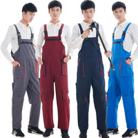 CCGK Men Women Bib Overalls Work Clothing Protective Coverall Repairman Strap Jumpsuits Working Uniforms Sleeveless Coveralls