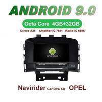 OTOJETA Car GPS Android 9.0 Radio FOR OPEL ASTRA J 2010 2012 stereo Navigation with DVD Capacitive screen Support Mirror Link