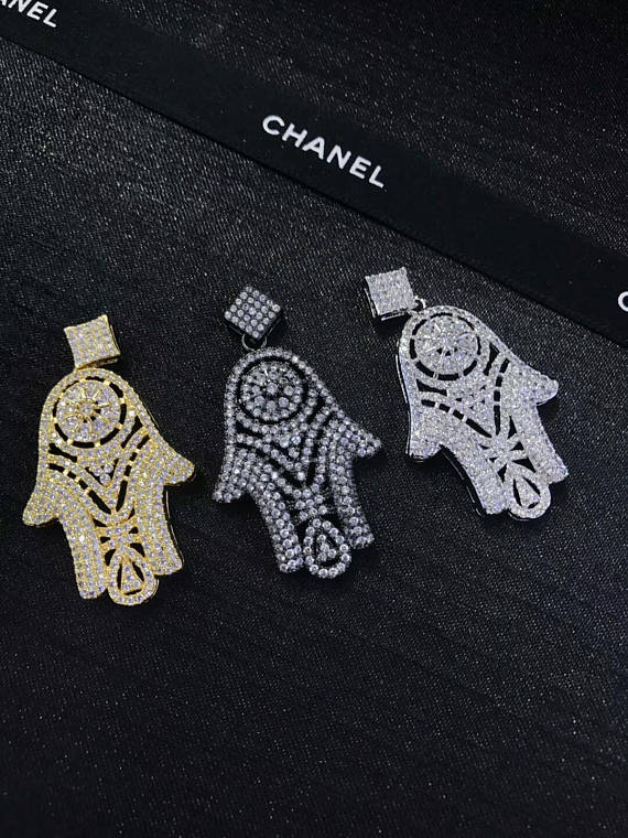 Big 6pcs Micro Pave CZ Diamond Large Hamsa Hand charm 45x25mm Hamsa Pendant Pave Findings, High QualityBig 6pcs Micro Pave CZ Diamond Large Hamsa Hand charm 45x25mm Hamsa Pendant Pave Findings, High Quality