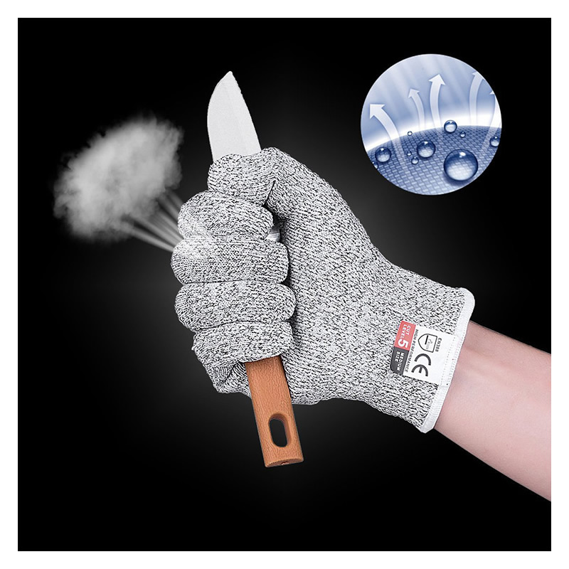 1/Pairs Cut Proof Gloves Food Grade Breathable Anti-Cut Work Safety Gloves Kitchen Butcher Garden Hand Protection