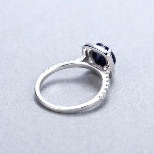 Image 5 - 보석 발레 2.57ct 자연 블루 사파이어 925 스털링 실버 반지 여성을위한 훌륭한 보석 보석 결혼 약혼 반지