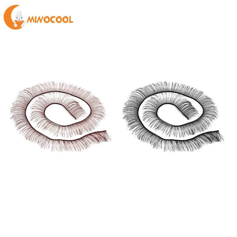 20cm Long Brown Eyelash For Reborn Baby Doll BJS Baby doll Eye Accessories