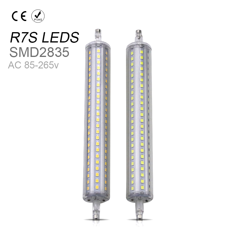 Aluminum R7S Led 118mm 220V Horizontal Plug Light R7S Led Lamp 110V 5W 10W 12W 15W Heatsink Tubo Led Halogen R7S Replacements