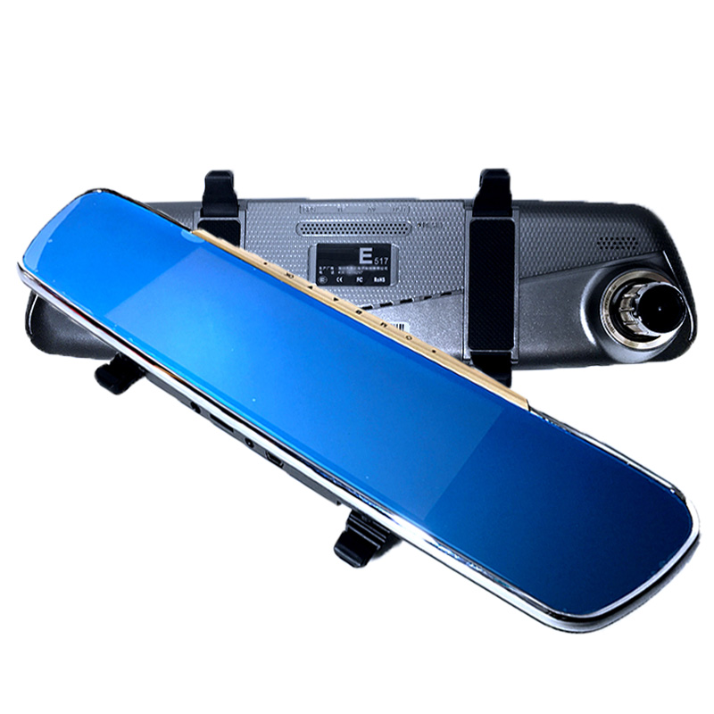 6 86 inch Dual Lens Car DVR Rearview Mirror Camera GPS font b Android b font