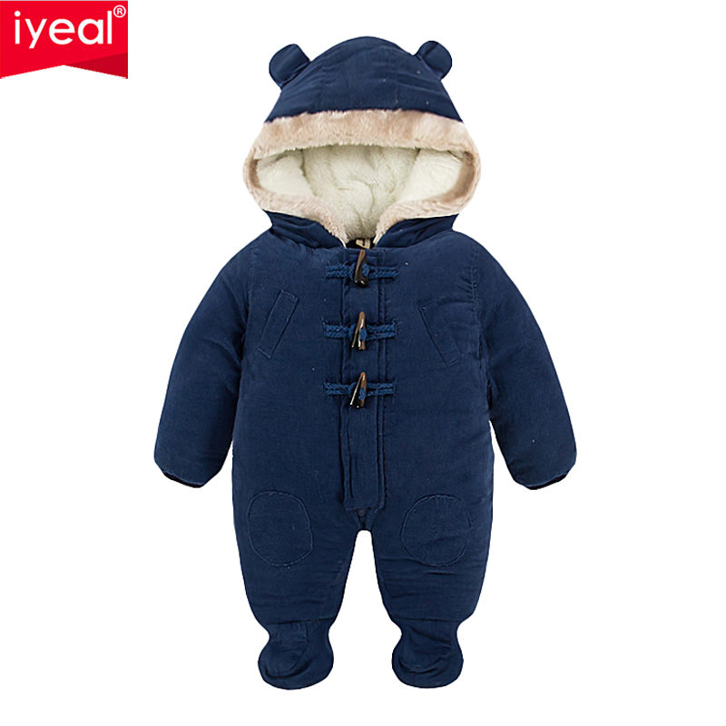 IYEAL Newest Fashion Winter Baby Clothes Warm Corduroy Infant Baby Romper Cotton-padded Toddler Jumpsuit Baby Boys Overalls iyeal 2017 winter thick warm newborn baby clothes kids boy cotton long sleeve cute print romper toddler infant overalls 0 12m
