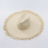 Muchique hot fashion summer hats for women sun hat wide brim floppy with fray edge paper.jpg 200x200