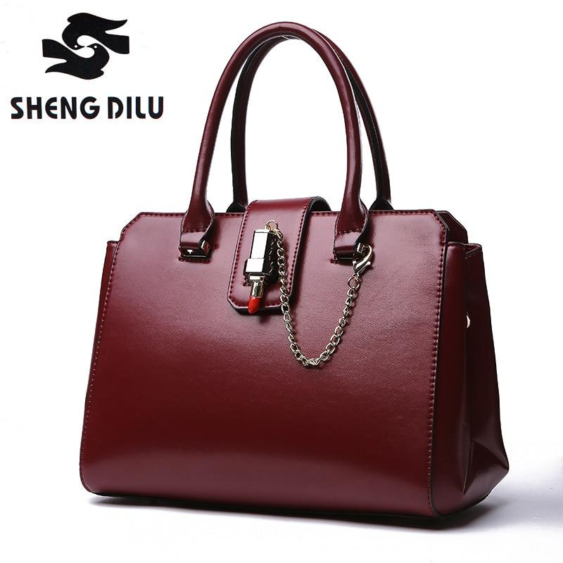 ФОТО Hot selling black blue wine red color genuine leather women's handbag Cowhide one shoulder bag women messenger bag high quality