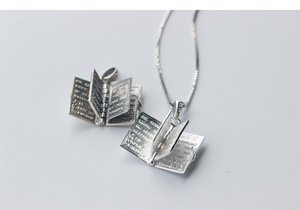Image 3 - 1pc 925 Sterling Silver Holly Bible Necklaces & Pendants