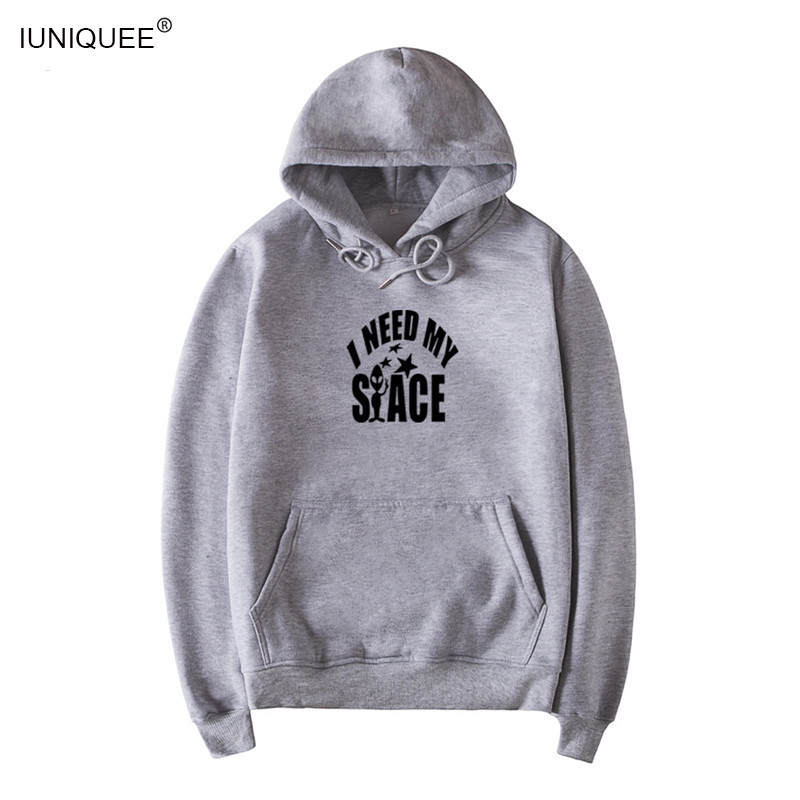 US $17 66 38% OFF|I Need My Space Women Men Tumblr Sweatshirt Fashion  Jumper Hoodie Long Sleeve hoody Outfits Tops Pullover-in Hoodies &  Sweatshirts