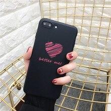 Love Heart Phone Case iPhone 5 5s 6 6s Plus 7 7 Plus 8 X
