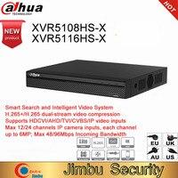 Dahua DVR XVR5108HS X XVR5116HS X 8ch 16ch до 6MP H.265S mart Поиск Цифровой Видео Регистраторы работать с dahua hdcvi камеры AHD