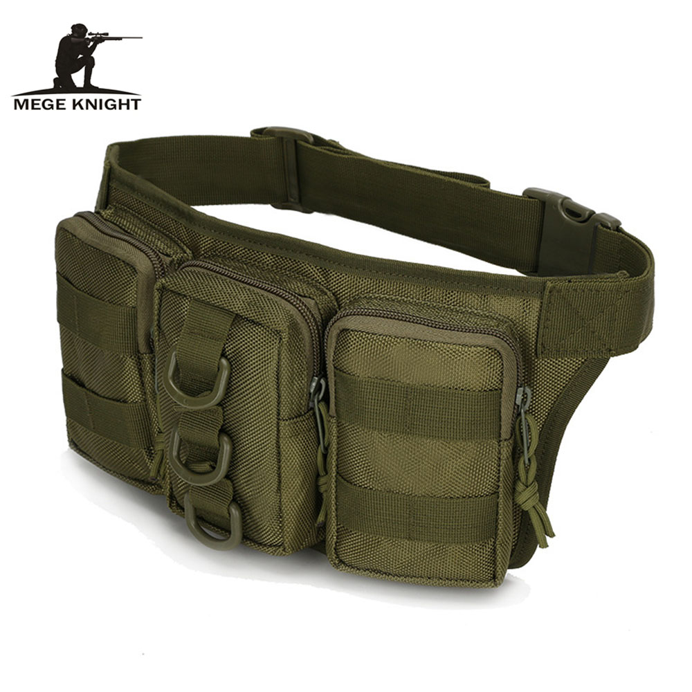 MEGE KNIGHT Outdoor Sports Camouflage Storage Triple Pockets Multifunctional Tactical Bag Outdoor Pouch Waist Bag Molle System