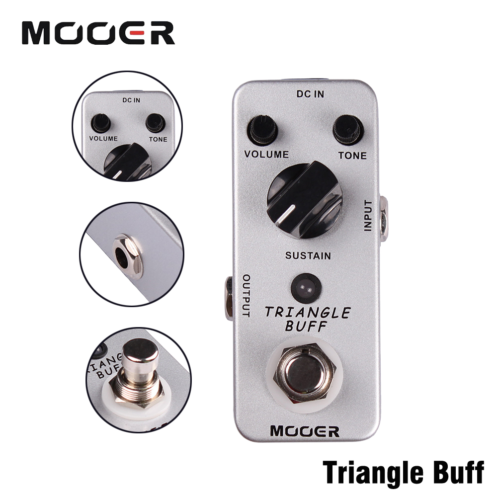 Mooer Full Metal Shell Effects Micro Triangle Buff Legendary Fuzz Tone Electric Guitar Effect Pedal mooer triangle buff fuzz pedal full metal shell true bypass guitar effect pedal