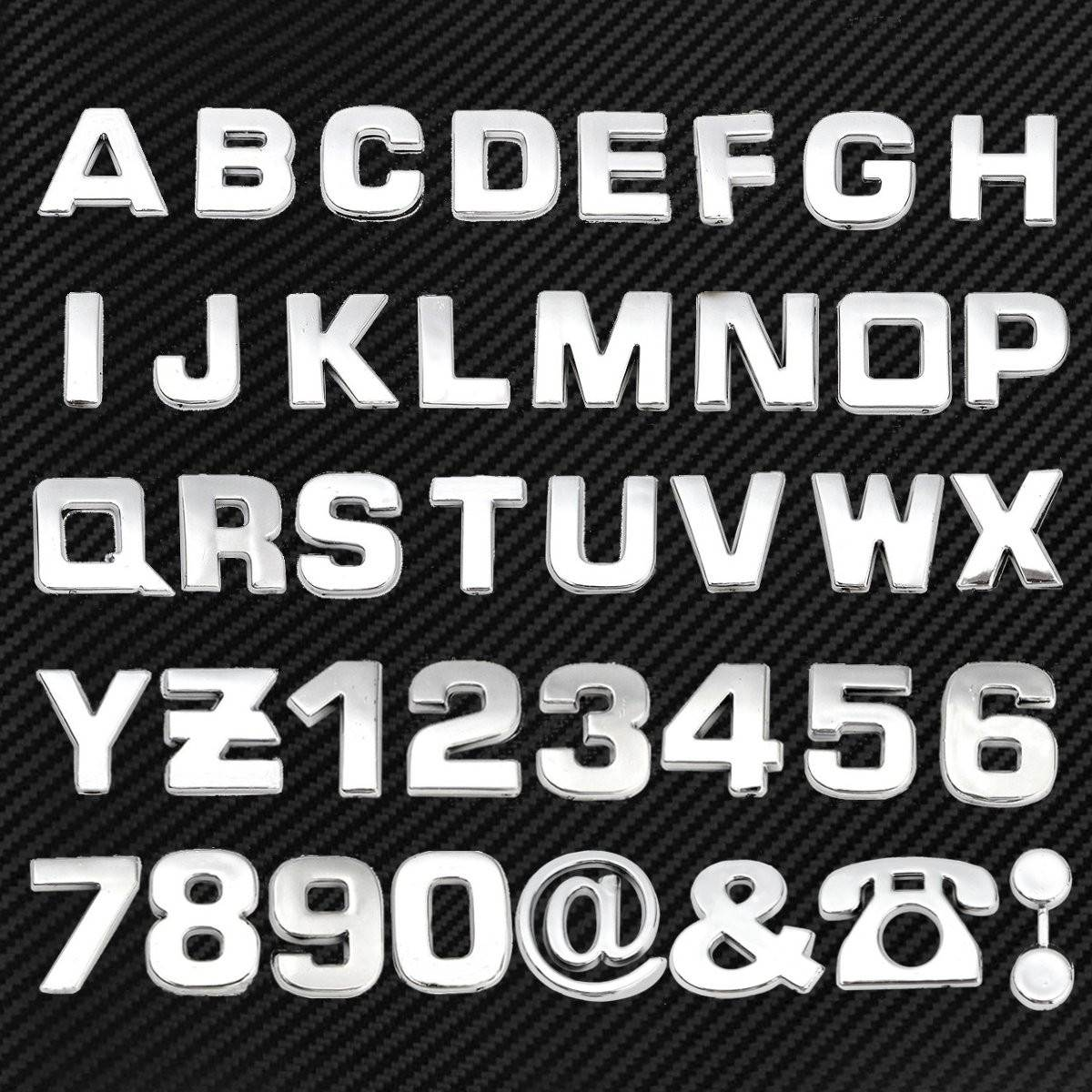 Us 45 40pcs 3d Diy Chrome Abs Metallic Metal Alphabet Letter Number Stickers Car Emblem Letter Badge Symbol Decal Car Styling In Car Stickers From