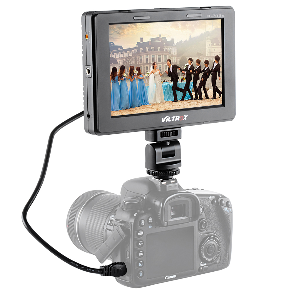 Mcoplus DC-70 II 4K Clip-on Color TFT HD LCD On Camera Monitor Display HDMI HDMI AV Signal input for DSLR Camera Camcorder