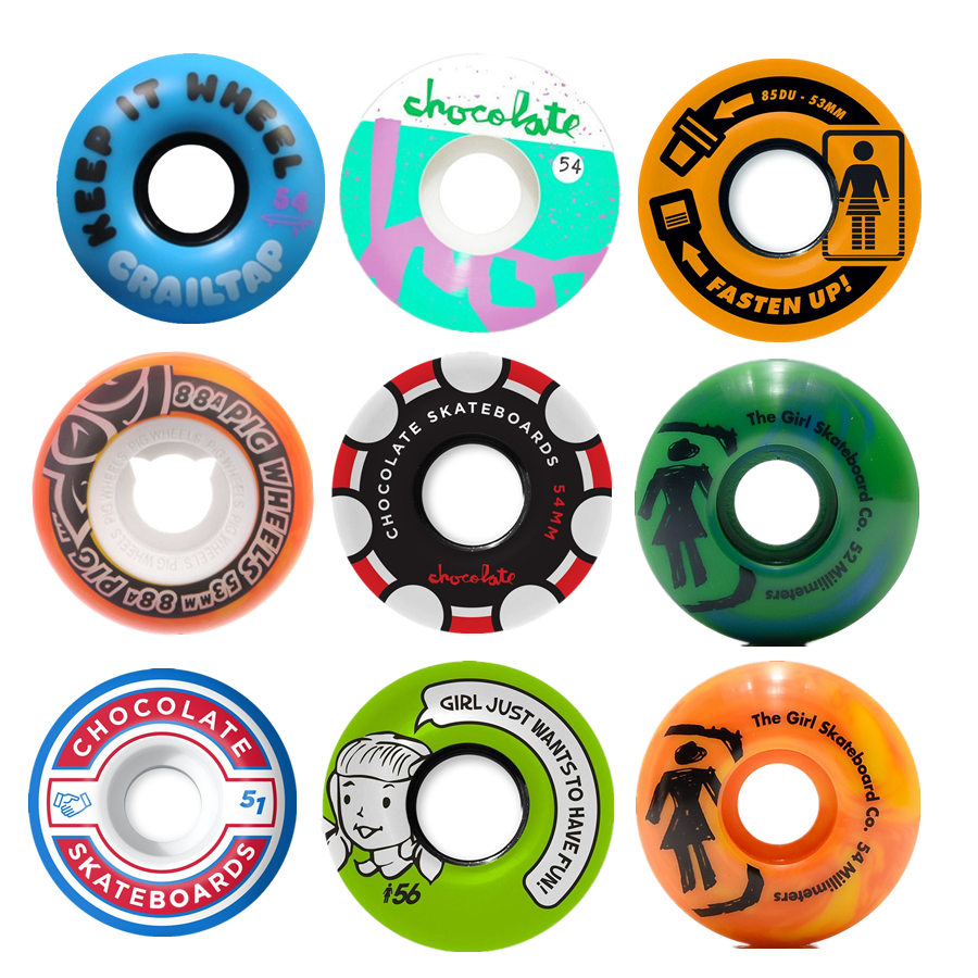 New Arrival Pro USA Skateboard Wheels 52/53/54/55/56mm Skate Board PU Ruedas Patines Aggressive Rodas Skate Wheel 4PCS