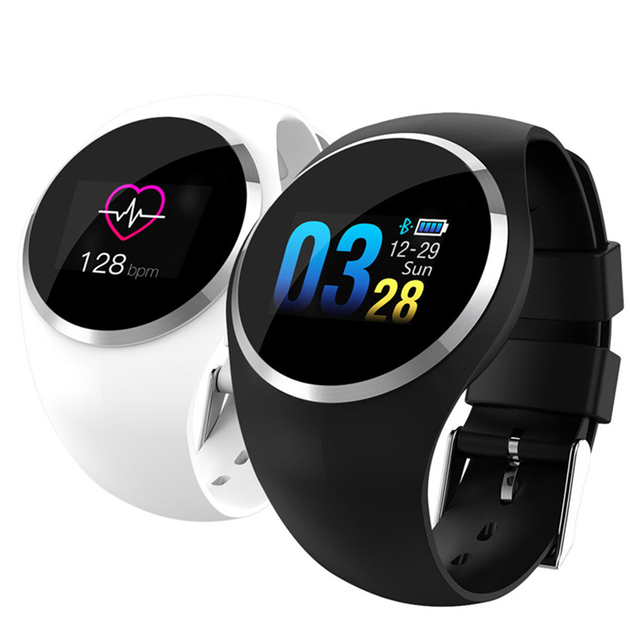 "NEW Fashion Q1 Smart Watch Women 0.96"" Color LCD Screen Blood Pressure Heart Rate Monitor Smartwatch For Android IOS"