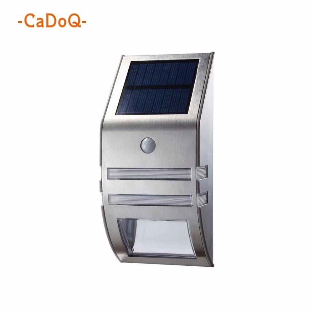 Solar Motion Sensor Light LED Outdoor Stainless Steel