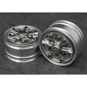 1 pair Metal Front Power Axle Wheels for 1/14 Tamiya US Semi Truck 12mm hex Version RC Car Spare Parts Front Power Axle Wheels