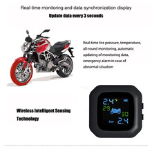 Original Engine Tire Pressure Monitoring System Wireless TPMS Motorcycle Alarm 2 External Sensor Moto Tools