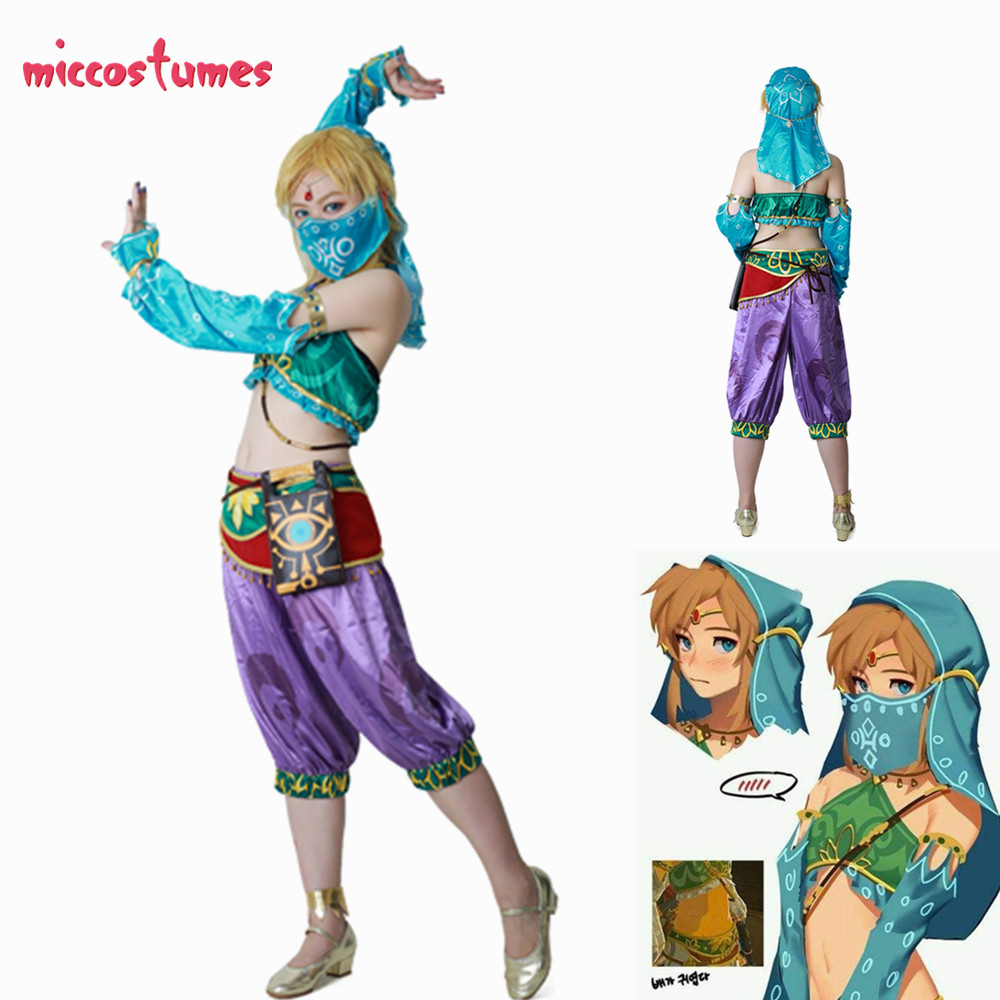 Us 54 99 Female Zelda Link Gerudo Outfit Cosplay Costume In Game Costumes From Novelty Special Use On Aliexpress