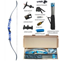Topoint Archery Competition Takedown Recurve Bow Package R2 Ready To Shoot Archery Set For Bow hunting