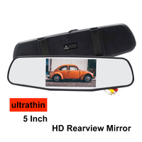 Auto 5 Inch Ultrathin Electronic Parking Screen Car Rearview Reverse Interior Mirrors Monitor 800*480px Mirror Video Recorder