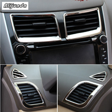 6 pcs ABS Chrome for Hyundai Solaris Verna Accent sedan hatchback 2011 2015 air conditioning at