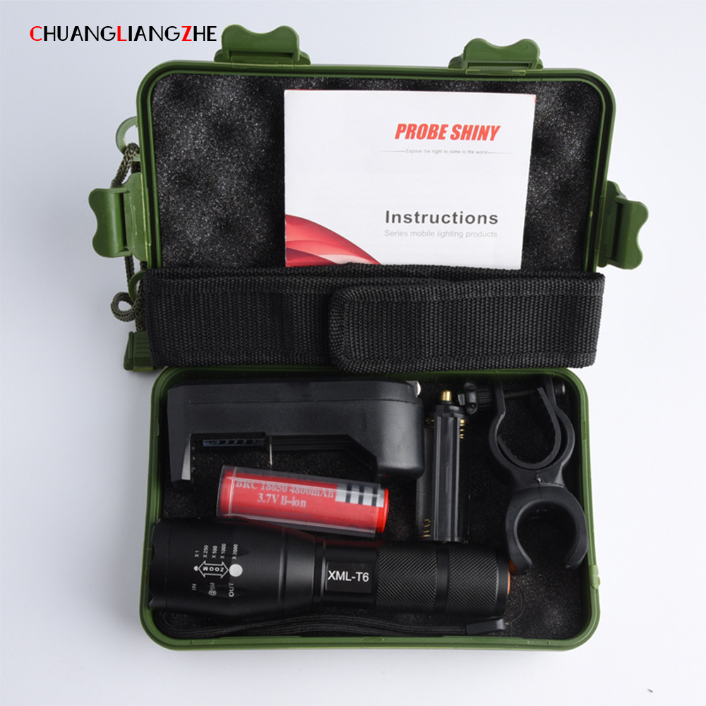 XML-T6 Flashlight Powerful Led Flashlight High Power Zoom LED Flashlight Kit Tactical Flashlight Rechargeable sitemap 19 xml