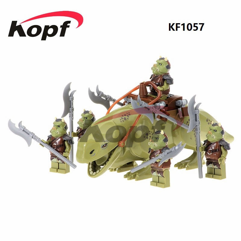 Gamorrean Guard Ewok Paploo Tan Battle of Endor With Weapon Dewback Jabba's Rancor Building Blocks Toys for children Gift KF1057 new top grade gift pure tan wooden type h chun tan mu shu h kuan