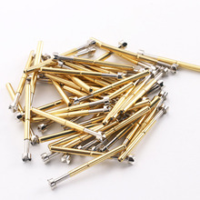 DIY P156-Q2 Series Probe Copper Nickel Plated Spring Probe Outer Diameter 2.36mm Test Thimble 100 / Pack Spring Test Probe p125 a2 cup type head test spring thimble 100 pcs pack integrated detection probe tool accessories