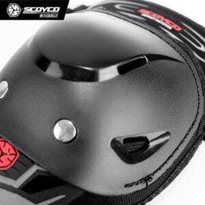 Image 3 - 오토바이 Kneepad K11 SCOYCO H11 Motocross 모터 나이트 안티 가을 승마 보호 장비 무릎 패드 PE 쉘 protetor K