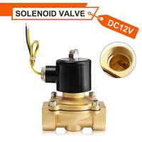 1Pcs DC 12V G1 Inch Electric Solenoid Valve Pneumatic Valve for Water Oil Air Gas Brass Cooper 86x73x117mm